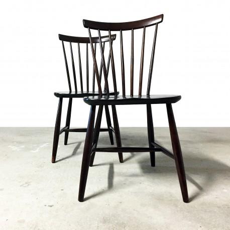 set de deux chaises style scandinave. Black Bedroom Furniture Sets. Home Design Ideas