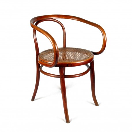 fauteuil en bois courb vintage type le corbusier. Black Bedroom Furniture Sets. Home Design Ideas